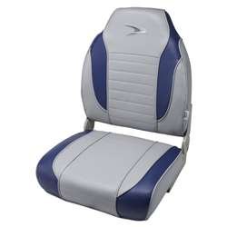 Wise Striped High Back Fishing Boat Seat Marble/Midnight Blue