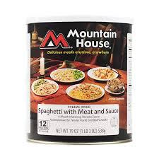 Spaghetti with Meat Sauce #10 Can Mountain House