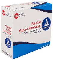 "Adhesive Bandage, Fabric  1"" x 3"", St Box of 100"