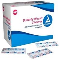 "1/2""X2 3/4"" Butterfly Wound Closure 100 Box"