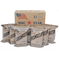 MRE Star Case of Lunch and Dinner meals