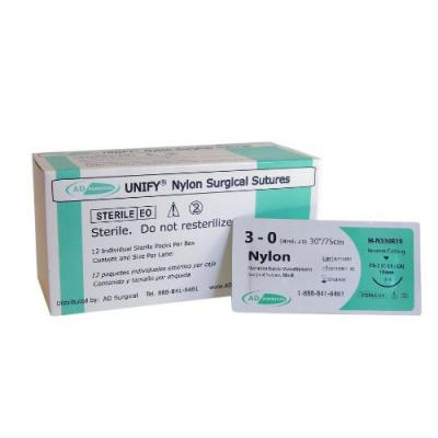 3-0 Nylon Suture (12 Box)