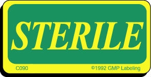 Sterile Caution Label C090s Gmp Qsr Amp Iso Compliance