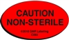 CAUTION NON-STERILE Caution Label