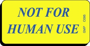 NOT FOR HUMAN USE Caution Label
