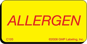ALLERGEN Caution Label