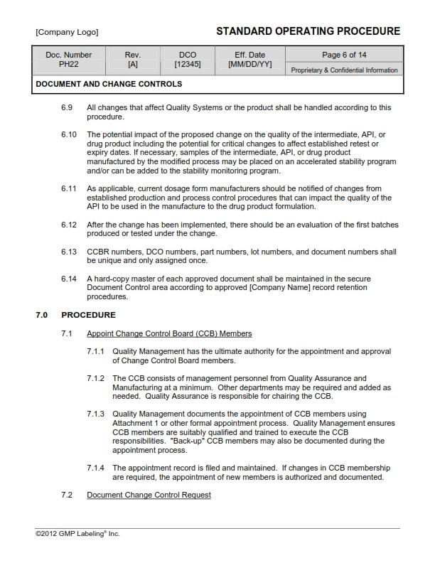 DESIGN & DOCUMENTS CONTROL GROUP SOP Templates Group PH200