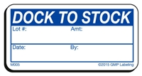 Dock to Stock Materials Label M005 by GMP Labeling