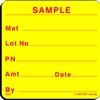 SAMPLE Material Label