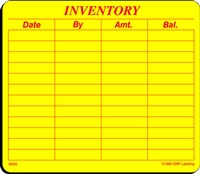 INVENTORY Material Label
