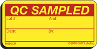 QC SAMPLED Cryogenic Materials Label