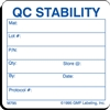 QC STABILITY Material Label