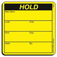Hold Quality Control Label by GMP Labeling