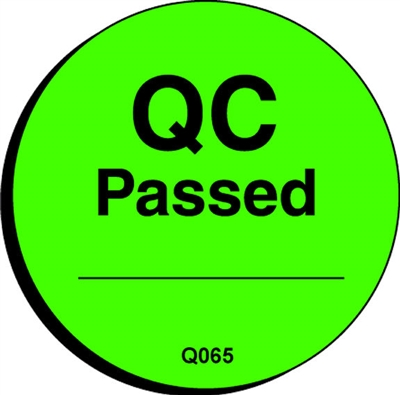 QC PASSED Quality Control Label