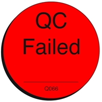 QC FAILED Quality Control Label