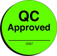 QC APPROVED Quality Control Label