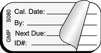 CAL DATE (Self-Laminating) Status Label