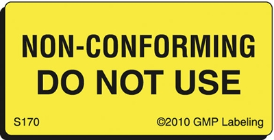 NON-CONFORMING DO NOT USE Status Label