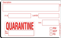 QUARANTINE Status Label