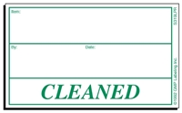 CLEANED Status Label