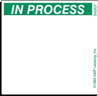 IN PROCESS Status Label