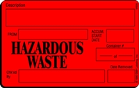 HAZARDOUS WASTE Waste Label