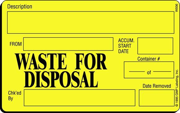 Hazardous waste labels pdf
