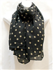 Black and Tan Dots Scarf