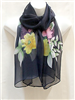 Blue with Yellow Flowers Scarf