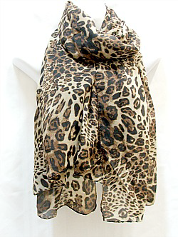 Dark Brown and Tan Scarf
