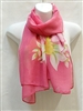 Pink with Yellow Flowers Scarf