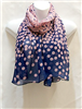 Pink Small Circles Scarf