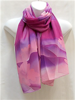 Pink and Purple Wave Scarf