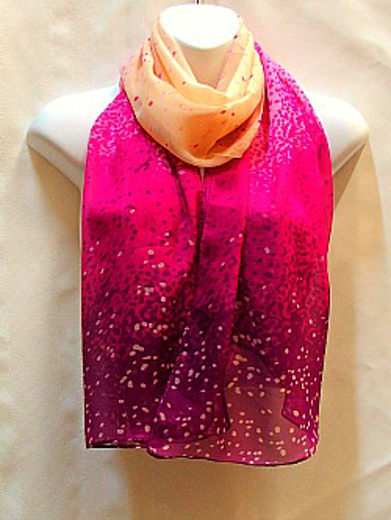 Purple and Cream Scarf