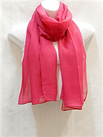 Red Plain Scarf