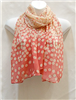 Peach Small Circle Scarf