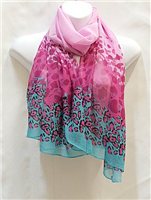 Pink and Turquoise Scarf