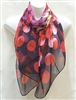 Red, Yellow, Purple Circles Scarf