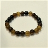SBCA-Coffee Agate Stone Stretch Bracelet
