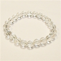 SBCQ-Clear Quartz Stone Stretch Bracelet
