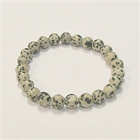 SBDM-Dalmation Stone Stretch Bracelet