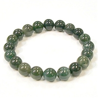 SBMA-Moss Agate Stone Stretch Braacelet