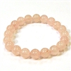 SBRQ8-Rose Quartz Stone Stretch Bracelet