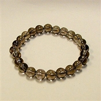 SBSQ-Smokey Quartz Stone Stretch Bracelet