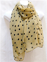 Tan and Brown Scarf