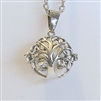 Tree of Life Lava Bead Cage Pendant Necklace