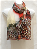 Tan and Red Multi Color Scarf