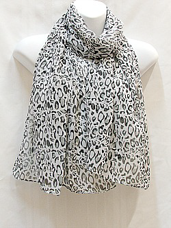 White and Black Scarf
