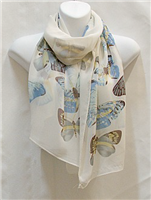 White Butterfly Scarf