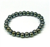 Green Hematite Stone Stretch Bracelet